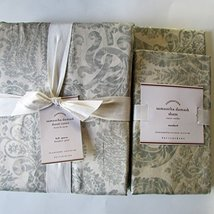 Pottery Barn Samantha Damask Duvet ~Full/Queen & Two Standard Shams~Porcelain Bl - $149.00