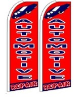Automotive Repair  King Size Polyester Swooper Flag pk of 2  - $31.99