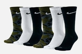 NIKE Everyday Max Cushion Crew Socks (6 Pairs) Size Large(8-12) - $22.77