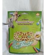 Creativity Street Embossed Paper Safari Animal Masks, 24/Pack, 6 Pks, 14... - $34.10