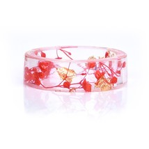 2019 New Fashion Fresh Transparent Real Dried Flowers Ring Party Jewelry... - $16.73
