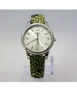 New TIMEX T2P130TN Green Python Patterned Leather Band Women Watch - $39.56