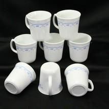 Corelle Corning  Morning Blue Mugs Cups 3.5'' Lot of 8 - $29.39