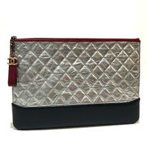 AUTHENTIC CHANEL CC Mark Matelasse Metallic Gabriel Pouch Clutch Bag A84288 - $1,530.00