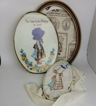Vtg Holly Hobbie Stitchery Kit Unfinished Needlework Time to Be Happy Pa... - $17.80
