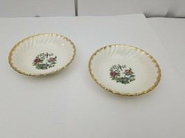 Royal China Dessert Bowls Set of 2 Ming Tree White Floral Bird 22 KT Gol... - $17.41
