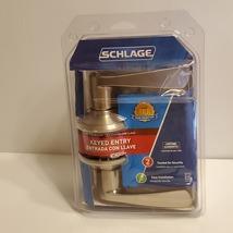 Schlage FA51VMER619 Merano Keyed Entry Lever, Satin Nickel. New, sealed  - $50.00
