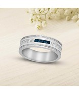 10 K White Gold 3/8 CT Natural Diamond Flush setting Wedding Band I1 Qua... - $409.99