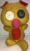vintage mattel Googlies Yellow Psychedelic 1966 Plush toy 73 - $28.04
