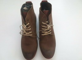 Kenneth Cole New York Smart Alec Suede Boot Men Shoes - Olive - Size 11 - NEW - $44.99