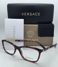 New VERSACE Eyeglasses VE 3186 5077 52-16 140 Havana Tortoise Frame w/Clear Lens