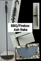 "BBQ/Fire Box Round Ash/Coal Rake 30-36"", Custom Made, Made in US by a Bl... - $38.12"