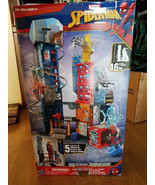 "NEW Marvel Spider-Man Mega City Playset 5 Levels of Play 46"" Tall -Read ... - $55.99"
