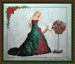QUEEN of WATER - Chart & MH beads by Cross Stitching Art Design - $27.71