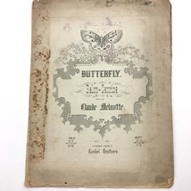 1871 Butterfly Galop Caprice Sheet Music Antique Claude Melnotte - $19.75