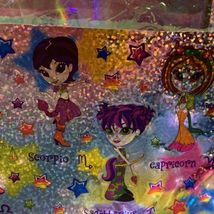 Rare Lisa Frank Long Prism Holographic Sticker Sheet ZODIAC HOROSCOPE ASTROLOGY image 5