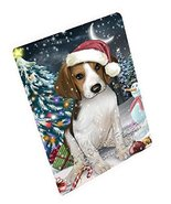Have a Holly Jolly Christmas Treeing Walker Coonhound Dog in Holiday Bac... - $88.11