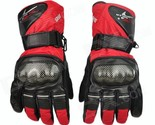 PRO-BIKER Motorcycle Thickened Warm Waterproof Racing Gloves - Red (Pair / Size-