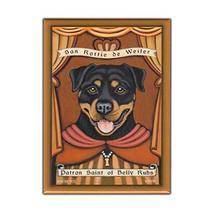 Retro Pets Magnet, Patron Saint Dog Series, Rottweiler (Rottie), Vintage... - $8.49