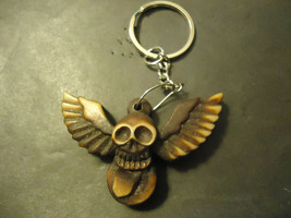 ICONIC SKULL WITH WINGS KEYCHAIN   (14537)   >> C/S & H AVAILABLE  - $4.95
