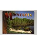POSTCARD - Minnesota - lake and canoe - $1.38