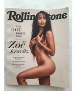ROLLING STONE MAGAZINE NOVEMBER 2018 ZOE KRAVITZ NUDE HOT ISSUE YOUNG HO... - $9.89
