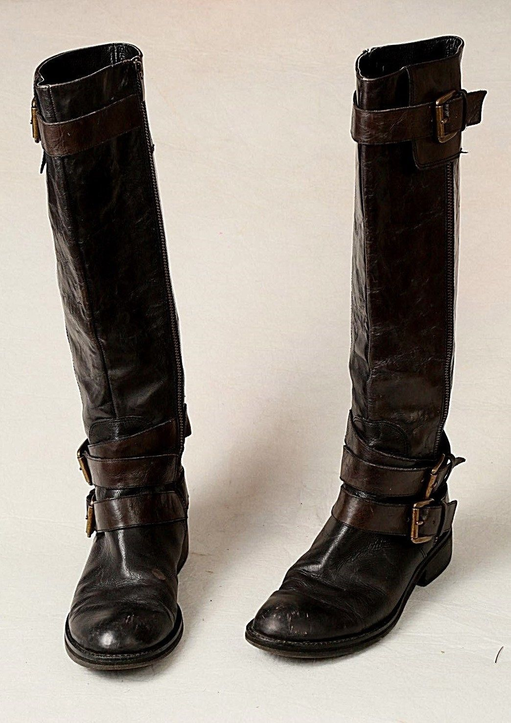 2270bcd64734 S l1600. S l1600. Previous. ENZO ANGIOLINI EASAYLEM WOMEN S BLACK LEATHER  SIDE ZIP RIDING BUCKLE BOOTS 7.5 M