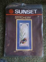 1982 Sunset MANDARIN DUCK  Embroidery SEALED Kit #2551- Designer Nancy R... - $11.88