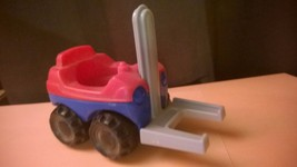Fisher Price Little People Quarry Red and Blue Forklift with Black Wheels - $6.50