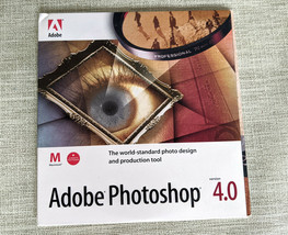 Adobe Photoshop 4.0 Software CD for Macintosh + Mac / PC Tutorial Disc - $14.99