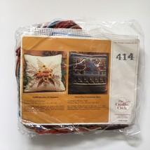 Vintage indigenous Bird Artwork Needlepoint Pillow Kit Creative Circle 414 - $14.46