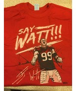 New JJ Watt Say Watt RED T-Shirt Tee Houston Texans AFC South Champs Men... - $37.03