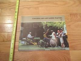 John Deere Lawn and Garden Tractors Vintage Dealer sales brochure 6 - $15.99