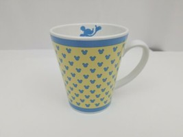 Walt Disney Mickey Mouse Coffee Mug Tea Cup Stoneware Yellow & Blue Dish... - $7.84