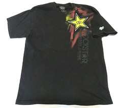 Fox Racing X Rockstar Energy Drink Graphic Black T-Shirt Adult Mens Size... - $32.62