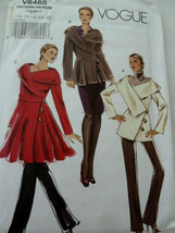 Vogue Pattern 8465 Awesome designer look Ladies jacket Size 14 16 18 20 ... - $11.08