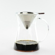 New Kitchen Tool Chemex Style SyphonWith Metal Basket Coffee Dripper  Po... - $40.58