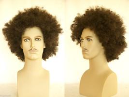 Large afro style Blonde Brunette Curly Men's Wig - $40.99