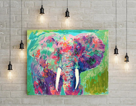 "Leroy Neiman ""Abstract Elephant"" HD Print on canvas large wall picture 3... - $48.51"