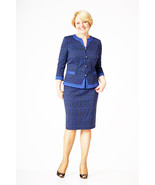 PARTY SKIRT SET 3/4 SLEEVE MADE IN EUROPE CLASSIC 10 12 14 16 18 20 22 - $175.20