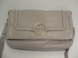 Tory Burch Crossbody bag Foldover mercury color new retail - $405.06 CAD