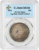 1834 50c PCGS MS64 (Large Date, Small Letters) ex: D.L. Hansen - Colorfu... - $3,239.80