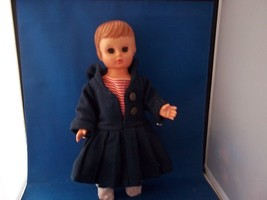 "Uneeda Doll 14"" Plastic with Molded Hair Heavy Blue Outfit  - $35.00"