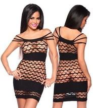 Negligé Club abito nero lingerie abbigliamento da discoteca biancheria sexy - $29.90