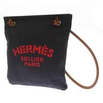 HERMES Sac Aline MM Blue Indigo Toile Chevron #D Shoulder Bag France Aut... - $1,245.25