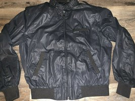 Members Only ~ Vtg Men's Black Riding Jacket Motorcycle 1980's ~ 42 - $25.23