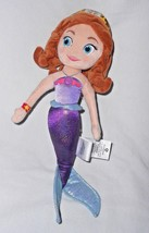Disney Store Sofia the First Mermaid Princess Doll Plush Soft Toy Purple - $63.24