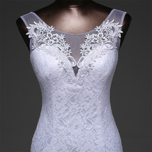 Lace floral mermaid Wedding Dress at Bling Brides Bouquet Online Bridal Store image 7