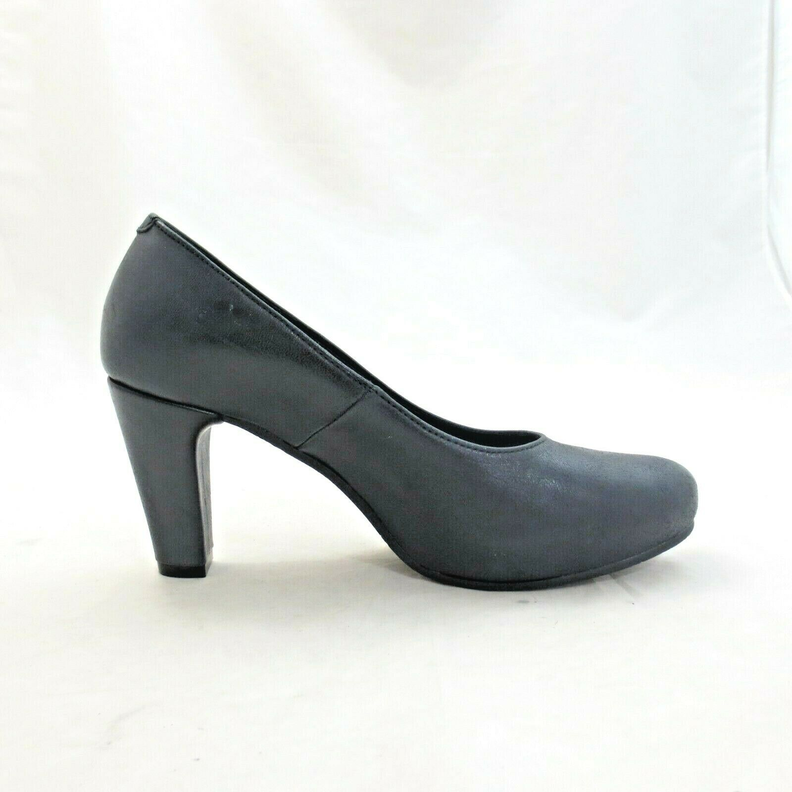 Primary image for 37 / 6.5 US - Cordani Anthropologie Black Smooth Leather Heels Pumps NEW 0425AC