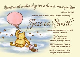 Winnie the pooh pink baby shower invitation thumb200
